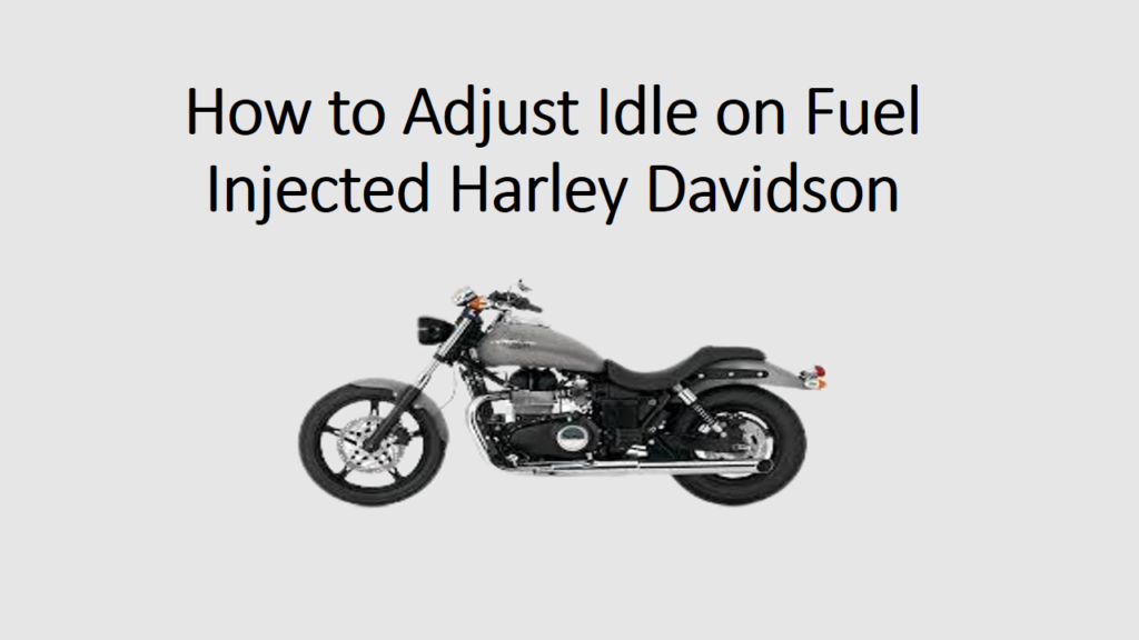 How to Adjust Idle on Fuel Injected Harley Davidson Sportster